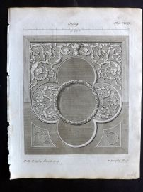 Langley 1777 Antique Architectural Print. Ceiling 170